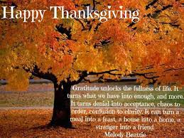 My Thanksgiving Wishes for You