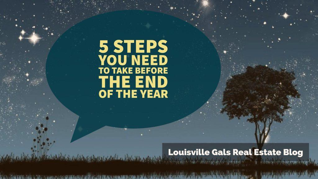 5 Steps You Need to Take before the End of the Year