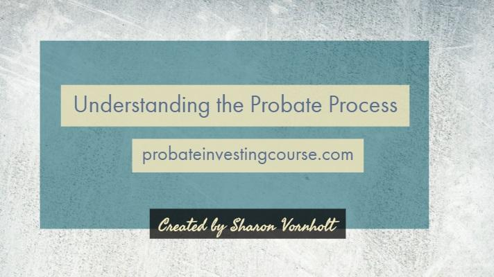 Probate Investing Part 1: The 8 Steps in the Probate Process - Video