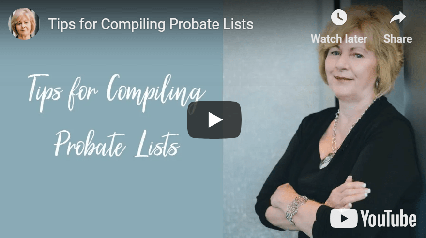 Tips for Compiling Probate Lists - Podcast #155 & Video